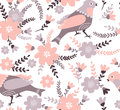 Stylish floral seamless pattern. Summer background in bright colors.