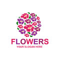 Stylish flowers logo