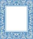 Stylish frame with floral elements Royalty Free Stock Photo