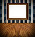 Stylish golden frame dark rich  interior Royalty Free Stock Photos