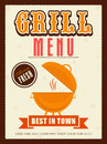 Stylish grill menu card, template or flyer design.