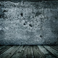 Stylish grunge wall texture and wooden floor Stock Images