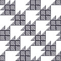 Stylish Houndstooth Seamless Pattern Royalty Free Stock Photo