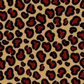 Stylish leopard seamless print. Vector format.