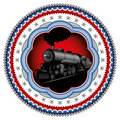 Stylish locomotive label. Stock Photos