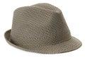 Stylish men's hat isolated on the white background Royalty Free Stock Photo