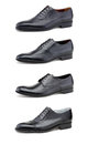 Stylish men's shoes on white. Stock Photography