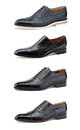 Stylish men's shoes on white. Stock Image