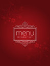 Stylish menu background floral design Stock Images
