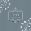 Stylish menu background floral design Stock Image