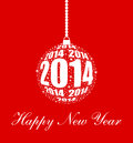 Stylish new year ornament design Stock Images