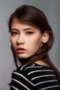 Stylish Nice Young Adult European Model Woman - Stock Image Royalty Free Stock Photo