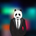 Stylish panda Royalty Free Stock Photo