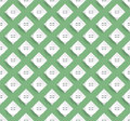 Stylish pattern design with greenish background and white shapes Royalty Free Stock Images