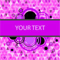 Stylish pink banner Royalty Free Stock Photo