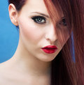 Stylish portrait of a stunning woman Royalty Free Stock Photo