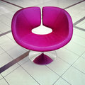 Stylish purple chair Royalty Free Stock Photo