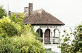 Stylish restaurant by the lake Balaton, Hungary Royalty Free Stock Photo