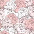 Stylish Rose Flowers Seamless Background. Royalty Free Stock Photo