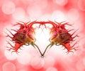 Stylish rose heart Stock Images