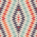 Stylish seamless vector tribal pattern for textile design geometrical tiled rhombus background in ethnic style psychedelic mix of Stock Image