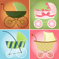 Stylish Strollers Stock Photo