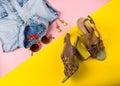 Stylish summer fashion essentials Royalty Free Stock Photo