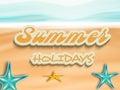 Stylish Text Of Summer Holidays.