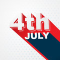 Stylish th of july text design Stock Image