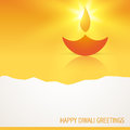 Stylish vector glowing diya Stock Photo