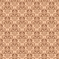 Stylish vintage floral seamless pattern, Victorian style vector Royalty Free Stock Photo