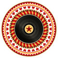 Stylish vinyl label. Royalty Free Stock Photo