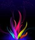 Stylish wavy flame - Colorful elegant abstract background.