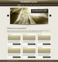 Stylish website template Stock Photography