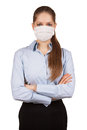 Stylish woman in protective medical mask young Royalty Free Stock Photo