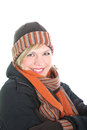 Stylish woman in winter ensemble Royalty Free Stock Photo