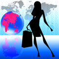 Stylish women world travel Royalty Free Stock Photography