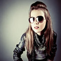 Stylish young model Royalty Free Stock Images
