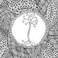 Stylistic tree illustration Royalty Free Stock Photo