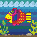 Stylize fish fantasy under water Royalty Free Stock Image