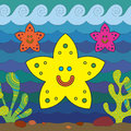 Stylize starfish fantasy under water Stock Photography