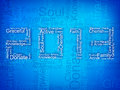Stylized 2013 Happy New Year background. Royalty Free Stock Image