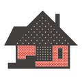 Stylized american house illustration Stock Image