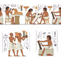 Stylized ancient egypt banner