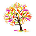 Stylized apple tree Royalty Free Stock Images