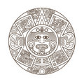 Stylized Aztec Calendar Stock Photos