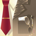 Stylized background with cravat Royalty Free Stock Photo