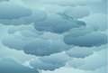 Stylized blue clouds abstract background with Royalty Free Stock Photos