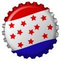 Stylized bottle cap with united states flag Royalty Free Stock Photo