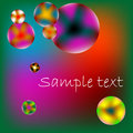 Stylized bubbles with space for text Royalty Free Stock Photos
